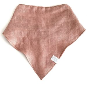 bandana bib misty rose